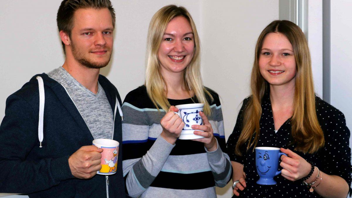 Die drei von der digitalen Kaffeekasse: Da macht das Kaffeetrinken wieder Freude