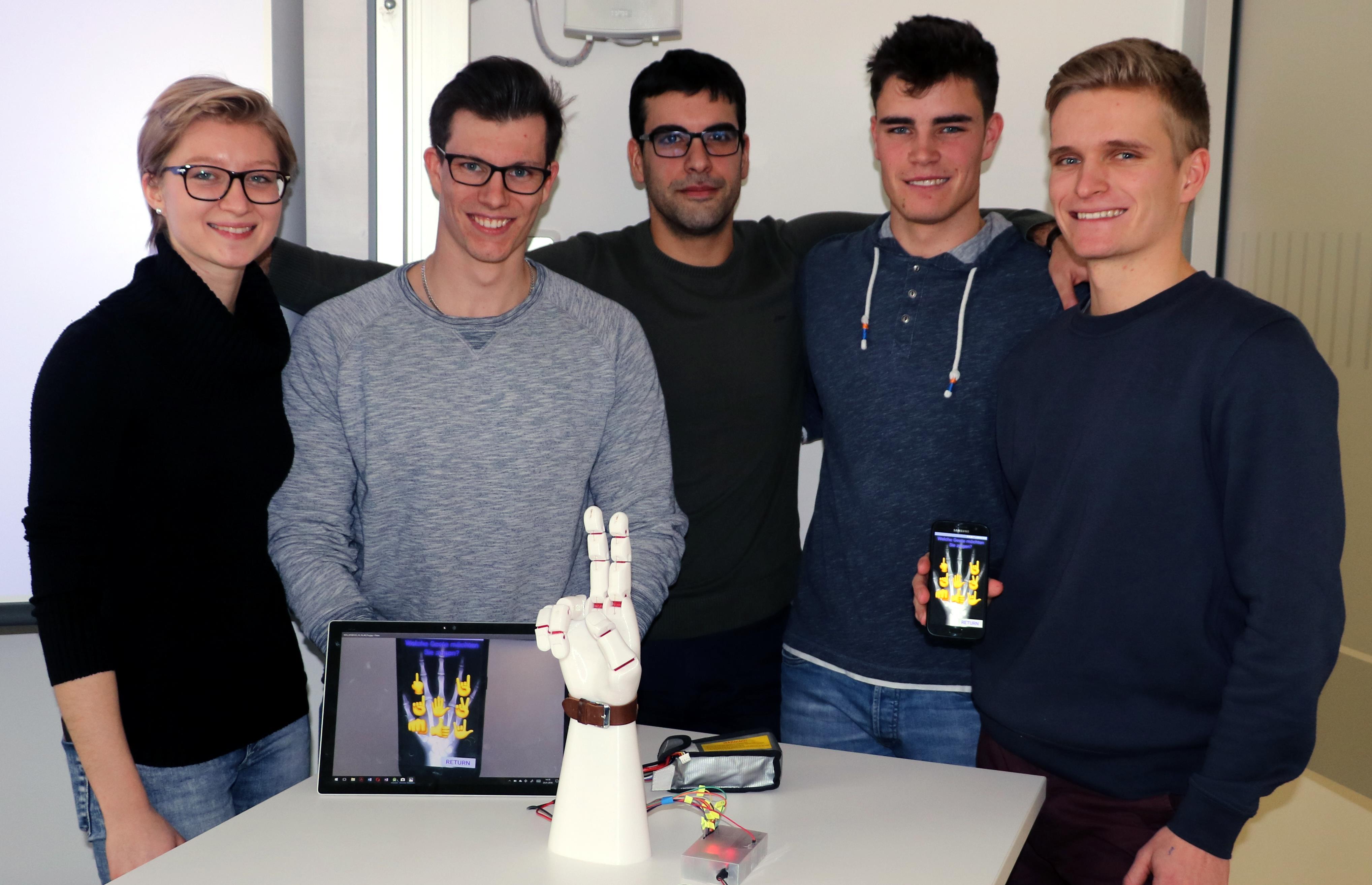 Projektteam der künstlichen Hand