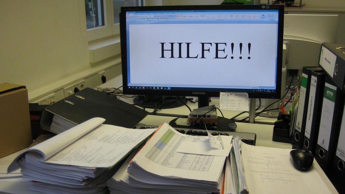 Chaos am Schreibtisch